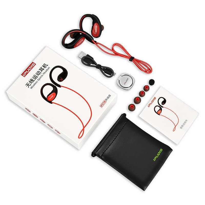 IPUDIS Спортивная bluetooth-гарнитура IPX7, водонепроницаемые беспроводные наушники, Hi-Fi стерео наушники с шейным ремешком, наушники 120 мАч с микрофоном