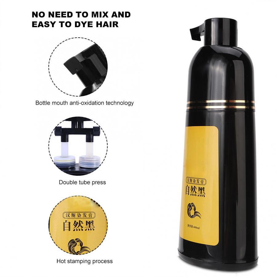 natural planta shampoo cabelo preto tintura de