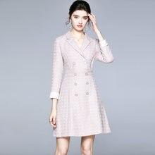 Zuoman женское осенне зимнее элегантное платье Блейзер festa