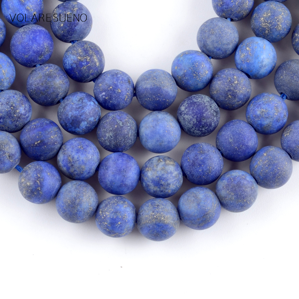Polished Lapis Lazuli Gemstone 1mm Oval Loose Beads Charms for Necklace DIY