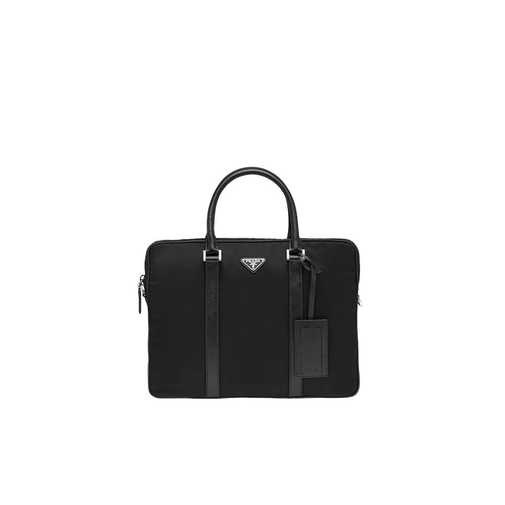 Large Capacity Messenger Shoulder Bag Prada Nylon Briefcase Business Handbag For Men 2VE368_064_F0002_V_YOS