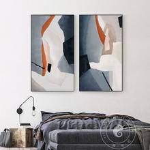 Скандинавская мраморная Картина на холсте Современный домашний