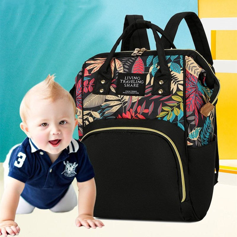 Baby Both Shoulders Package Diaper Feeding Bottle Backpack Mommy Package Mummy Maternity Stroller Bag Nappy Storage Backpack