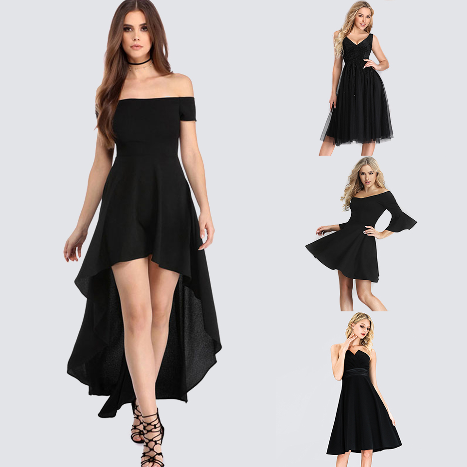 Sexy Off-the-shoulder Cocktail Dresses Asymmetrical A-Line Party Dress Short Front Long Back Ruffles Dress Cocktail