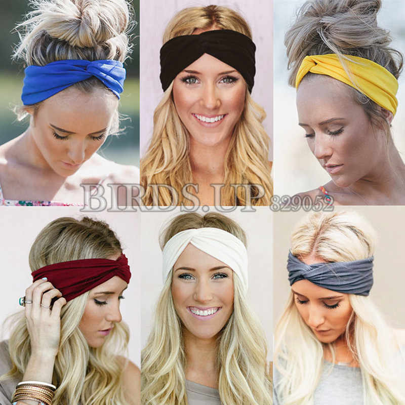 2020 croce Hairbands Leopardo Fasce per Le Donne Ragazze Nodo Della Fascia di Yoga Turbante Headwrap Dalla Fasciatura Copricapi Accessori Per Capelli