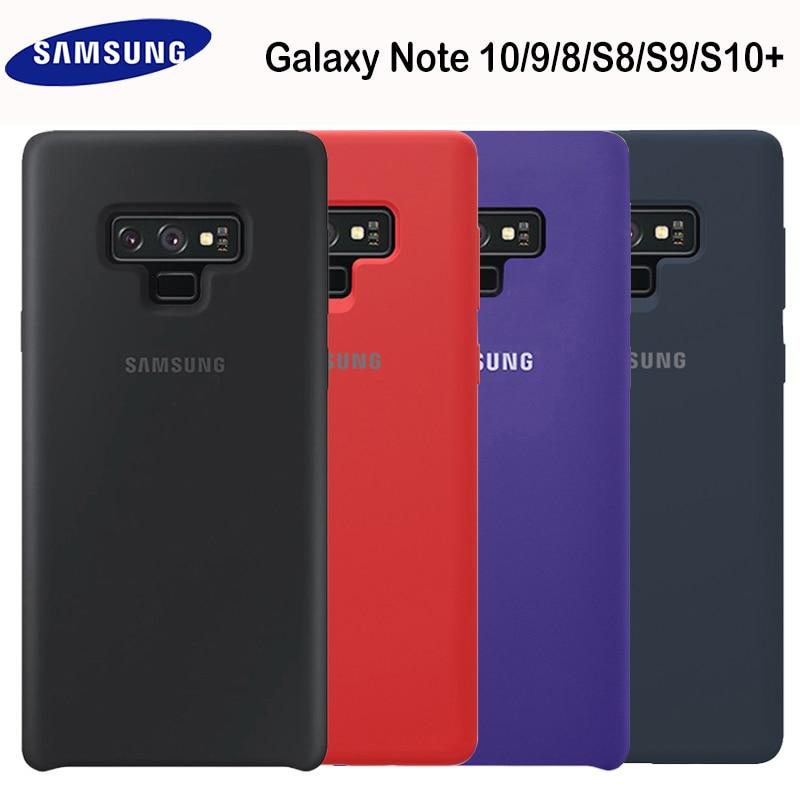 SAMSUNG Note 9 Case Original Soft Silicone Protector Case Samsung Galaxy Note 8 9 10 Plus 10+ 5G Silicon Cover Case