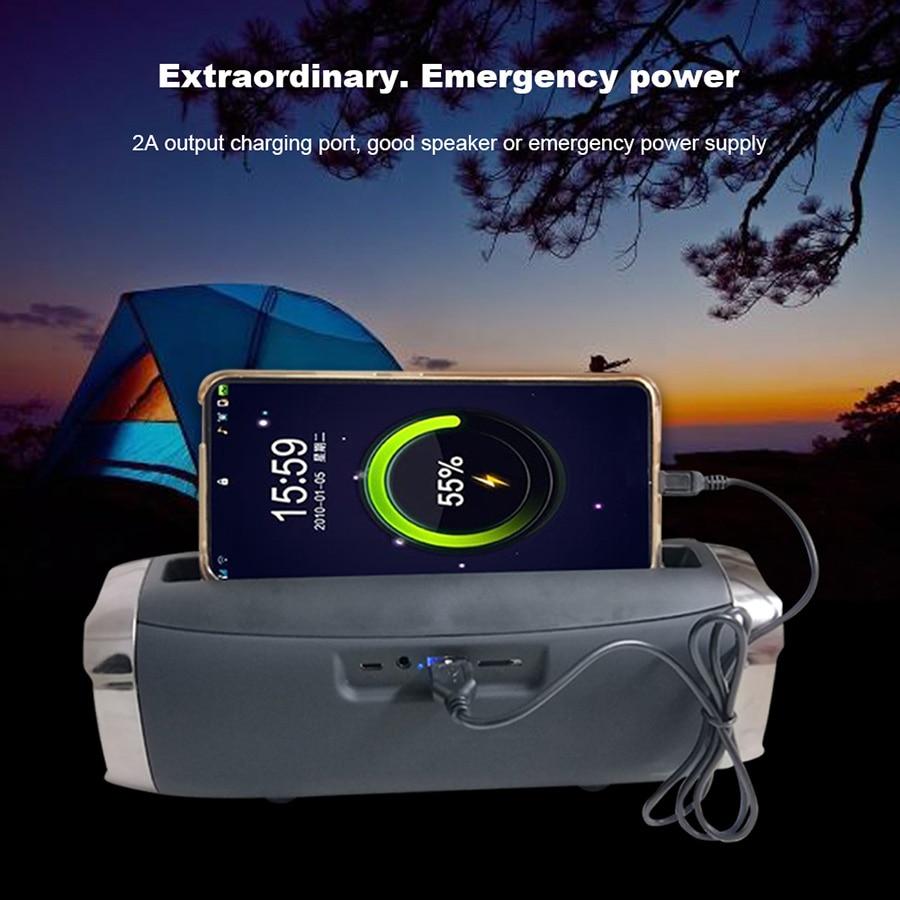 High Power 40W speaker Wireless Bluetooth Speaker Portable Outdoor som Boom box music senter With Phone Holder column 4