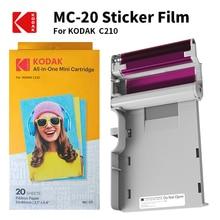 Картриджи KODAK C210 для бумаги, все в одном, 4 полосная технология печати, 20 40 50 100, отправка чернил для фотопринтера
