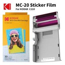 Kodak Alle In Een C210 Papier Cartridges Set Leverage 4Pass Printtechnologie 20 40 50 100 Foto printer Pakket Inkt