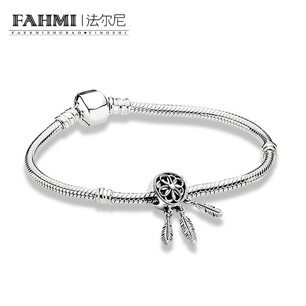 2020 100% 925 Sterling Silver ZT0133 Capture Love Bracelet Set 797200 SPIRITUAL DREAMCATCHER CHARM 590702HV BRACELET WITH CLASP