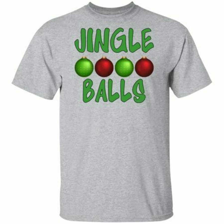 Jingle Bälle Lametta Titten Weihnachten Männer S-3XL kurzen ärmeln T-Shirt