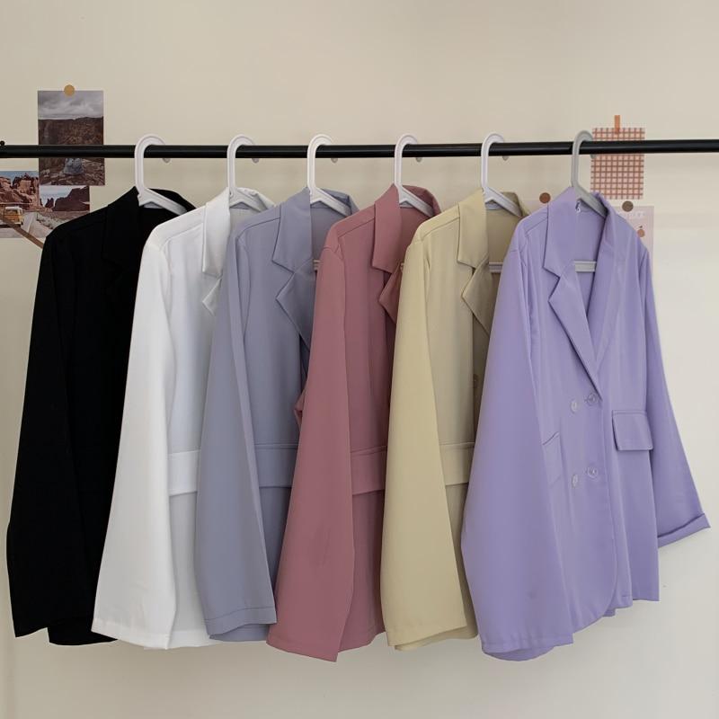 Summer New Fashion thin Blazer Jacket Women Casual Long Sleeve Work Suit Coat Office Lady Solid Slim Blazers