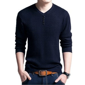 Image 2 - BOLUBAO rahat marka erkek kazak v yaka uzun kollu kazak üstleri erkek moda vahşi Slim Fit kazaklar kazak erkekler
