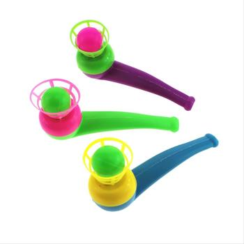 1 PC Suspended Blow Pipe Blow Ball Rod for Children Balance Training Floating Bowling Ball Kids Toys Color Random image