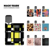 Magic Shark Leopard Painting Fruits Cat One Piece Full Wrap Pod Sticker Skin Film Case Cover for OVNS JC01 Vape magic shark sexy woman just do it leopard painting pokemon wrap full film for pax 3 case vape cover skin sticker for pax 3