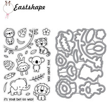 Eastshape Animal Elephant Monkey Metal Cutting Dies for Scrapbooking Die Cut Stitch Craft Troqueles New 2019 Stencil
