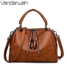 Zipper Deisgner Handbags High Quality Crossbody Bags For Women 2019 Women Messenger Bag Vintage Leather Ladies Hand Shoulder Bag