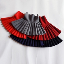 Girl Christmas Skirts Baby Winter Casual Mini Pleated Skirts Kids Clothes Princess Tutu Skirt Children Clothes 2-14 years