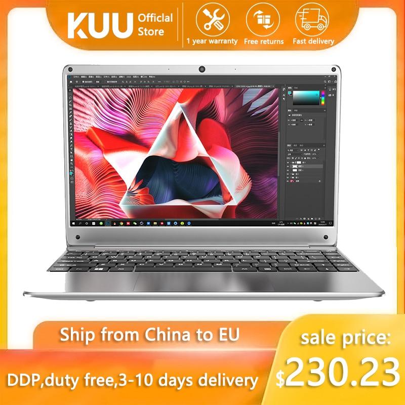 """מחשב נייד ultralight KUU KBook, 14.1 """"FHD (1.920x1.080), Intel Celeron N3450, 6GB RAM, 128GB/256GB SSD HD גרפיקה 500 Window10"""