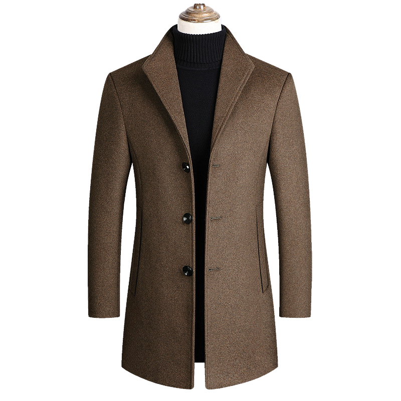 Mountainskin Men Wool Blends Coats Autumn Winter New Solid Color High Quality Men's Wool Jacket Luxurious Brand Clothing SA837 3