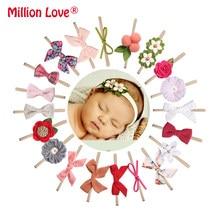 20 stilleri prenses bebek yenidoğan kız naylon kafa bandı çiçek yay bantlar fotoğraf artıları saç aksesuarları