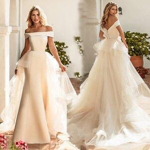 Image 2 - Verngo Mermaid düğün elbisesi es Ayrılabilir Tren Boho düğün elbisesi Vintage gelinlik Trouwjurk Törenlerinde Vestido De Noiva 2019