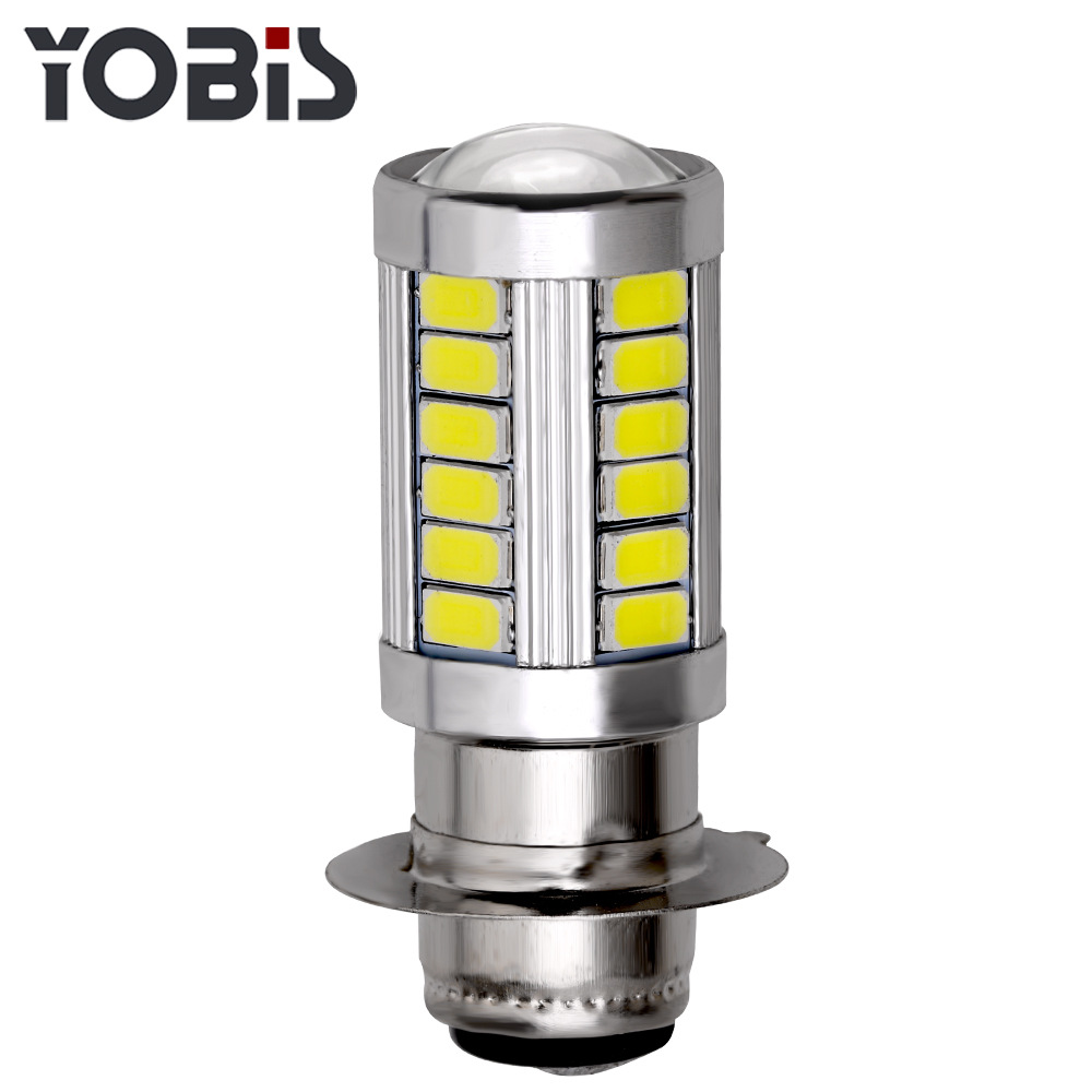 1PCS Free Delivery H6 5630 33 Lamp LED Fog Lamp H6 P15d-25 Motorcycle Refit Headlight High Brightness