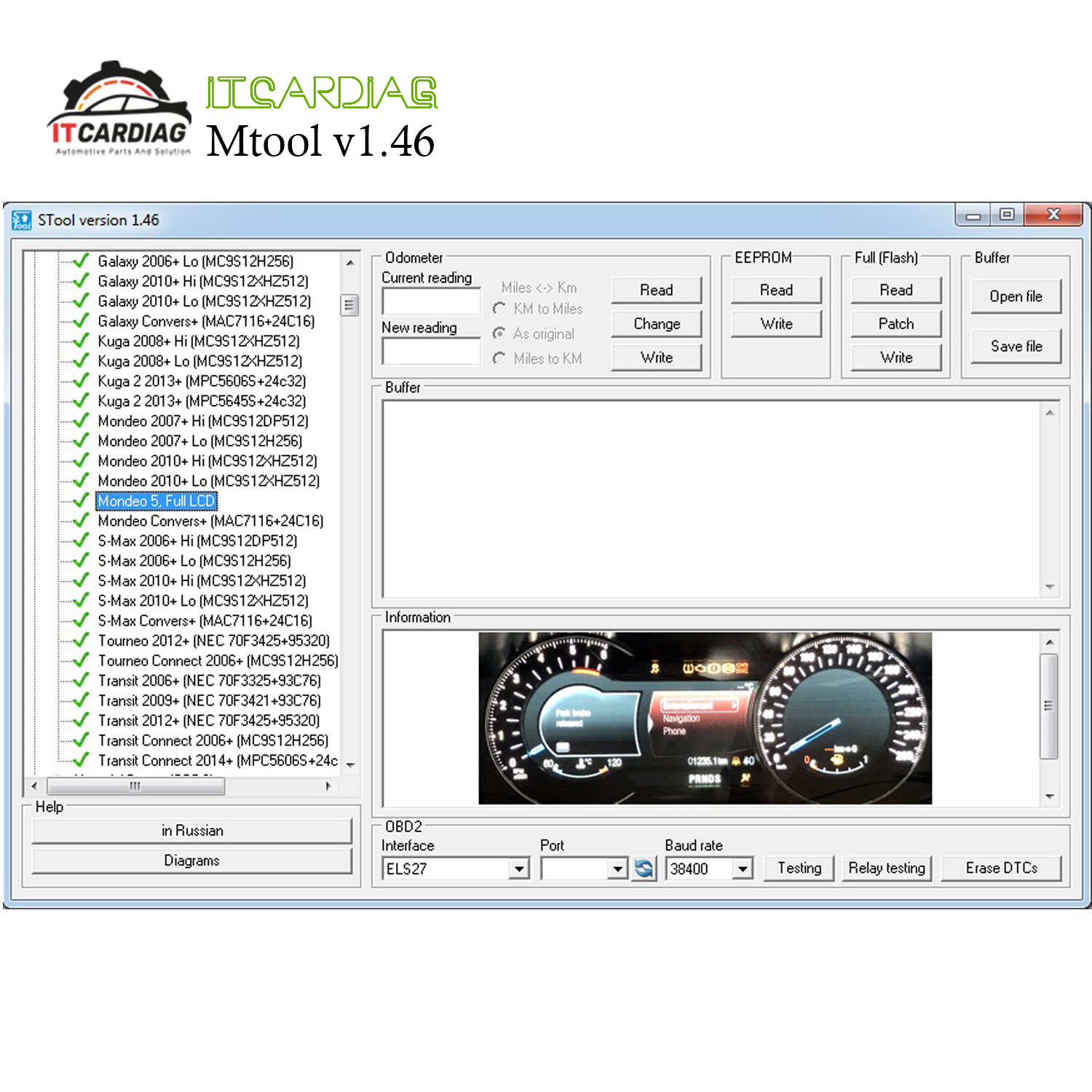 MTool V1.46 Supports 2019 Cars Odometer Correction Software Full Set Dongle + Denso Adapter + Denso Pin Wires Cable+ Els27