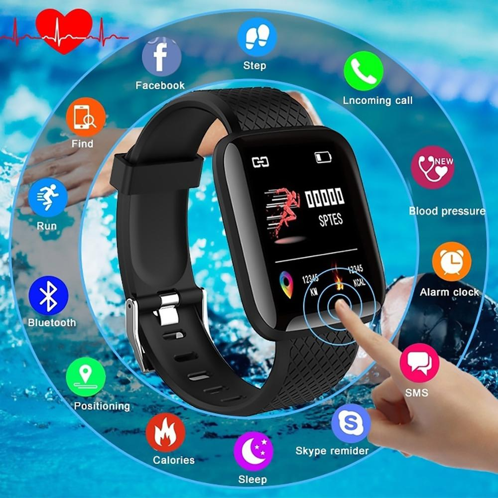 Bluetooth Smart <font><b>Watch</b></font> Sports USB Rechargeable Heart Rate Oxygen <font><b>Pressure</b></font> Sleep Monitor <font><b>Blood</b></font> <font><b>Pressure</b></font> Wristwatch Wearable Device image