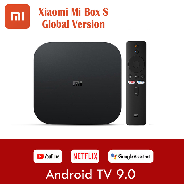 Wersja globalna Xiaomi Mi TV Box S 4K Ultra HD Android TV 9.0 HDR 2GB 8GB WiFi Google obsada Netflix Smart TV Mi Box 4 odtwarzacz multimedialny