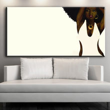 Wall Art African American Black Abstract Portrait Art Canvas Afro Women Poster Canvas Painting for Room Wall Decor(China)
