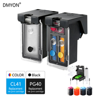 DMYON Refillable Ink Cartridge Replacement for Canon PG 40 41 Pixma IP2500 IP2600 IP1800 IP1900 MP190 Printer PG 40 CL 41