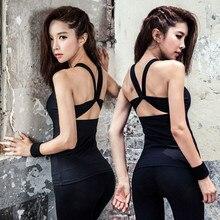 Sexy Open back Sport Tops Women Sport Yoga Tank Tops Gym Tight Fitness Tops Sleeveless Vest Running Training Tees Sportswear