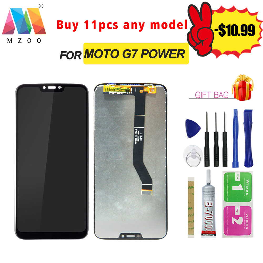 High Quality LCD For Motorola Moto G7 Power <font><b>XT1955</b></font> LCD Display Sreen Touch Digitizer Replacement Assembly Panel <font><b>Parts</b></font> With Fram image