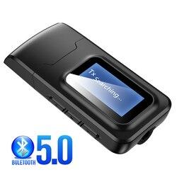 Mise à niveau Bluetooth 5.0 récepteur émetteur LCD affichage 3.5mm AUX USB stéréo musique sans fil Audio adaptateur pour PC TV casque voiture