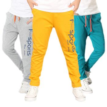 Spodnie dla chłopców 2018 spodnie sportowe dla chłopców regularne spodnie dla nastoletniego chłopca jesień odzież dziecięca dla chłopców 6 8 10 12 lat tanie i dobre opinie AIXINGHAO COTTON Poliester Chłopcy PATTERN Kieszenie Pełnej długości Pasuje prawda na wymiar weź swój normalny rozmiar