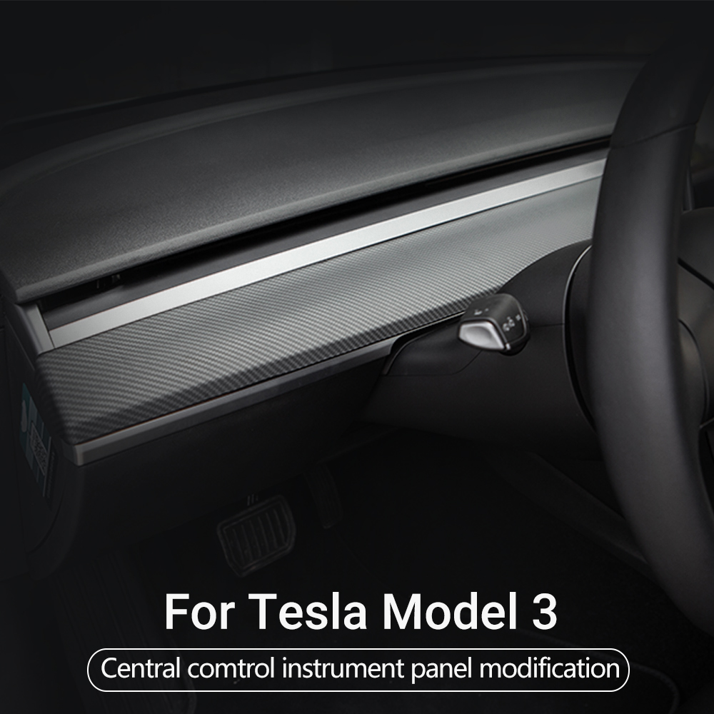 Model3 Central Control Instrument Panel For Tesla Model 3 Accessories Carbon Fiber ABS 2017-2020 Model Three Central Console  Y