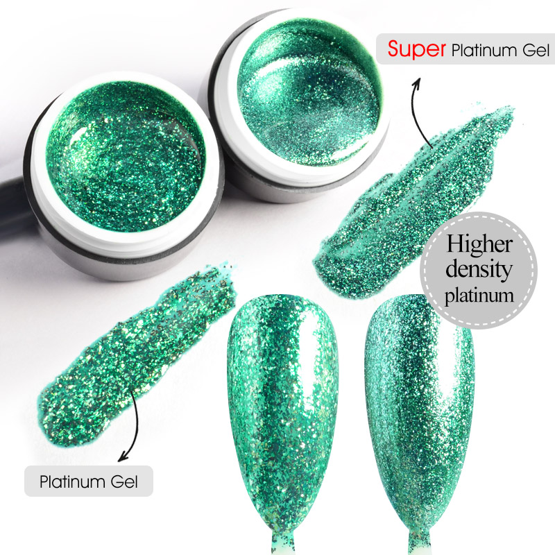 GDCOCO Super Platinum Gel 5ml Painting Gel Glitter Effect Soak Off UV LED Nail Gel Varnish Luxury Starry Color Gel Lacquer|Nail Gel| - AliExpress