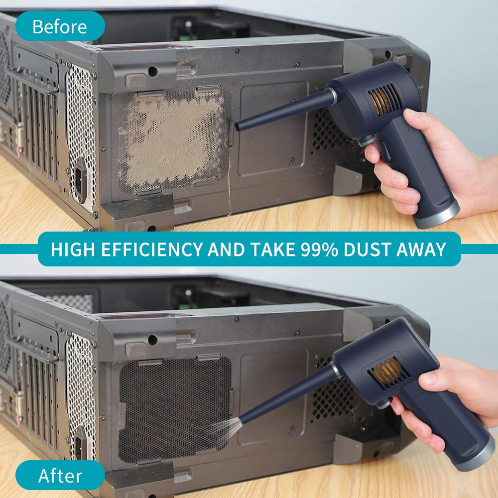 Compressed Air Duster, New Generation Canned Air,Electric Air Can for Computer Keyboard Electronics Cleaning,Cordless Air Blower