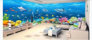 Пользовательские размеры обои современные обои для детской комнаты подводный мир фото обои s 3D Papel де Parede