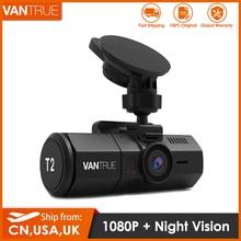 Vantrue T2 Dash kamera 24/7 gözetim süper kapasitör Dash kamera HDR 1080P araba dvrı Video kayıt mikrodalga koruma park modu