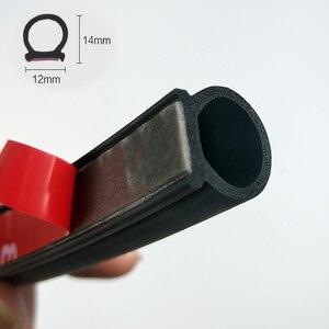 Type Big D Rubber Door Seal Strip Car Door Seal Strip Universal Noise Insulation EDPM Car Rubber Waterproof Seals For Auto