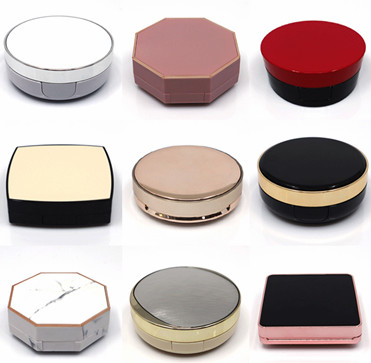1 шт. пустая воздушная подушка, коробка с буфами, портативный косметический чехол для макияжа, контейнер с порошковой губкой, зеркало для Bb ...