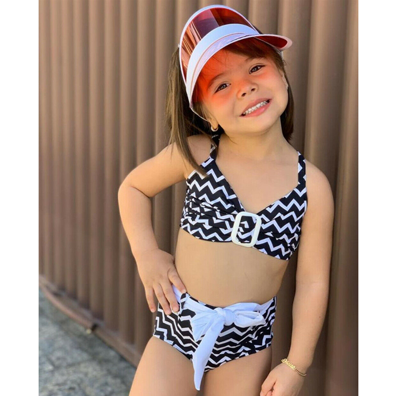 2Pcs Kids Girls Cartoon Bikini Set Swimsuit Swimwear Summer Beach Bathing Suit 4