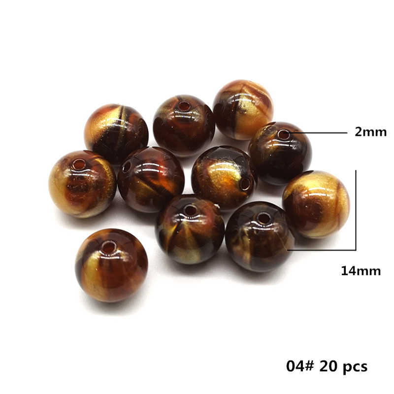 15 Styles Brown Beads Loose Spacer Beads for Making Jewelry DIY Bracelet Necklace, 30 gram/lot