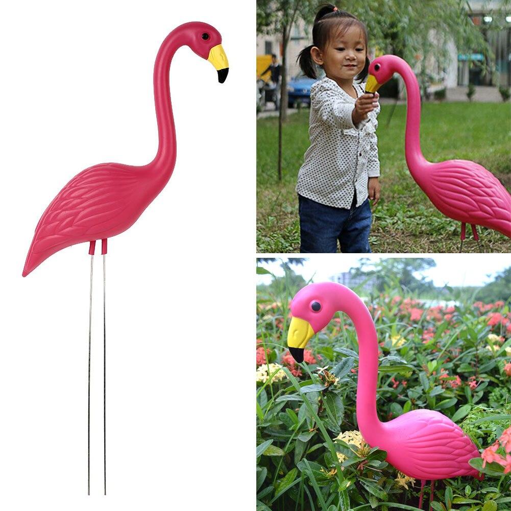 Flamingo Lawn Decoration Artificial Plastic Flamingo Figurines Yard Flamingo Ornament Lifelike Arts Wedding Garden Ornaments