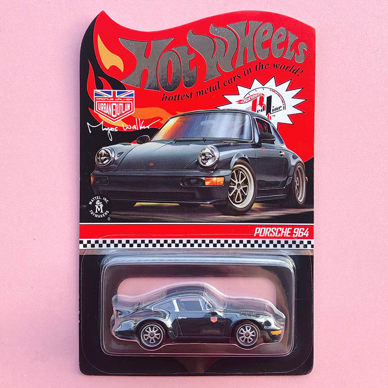 Hot Wheels Car 2019 Red Line Club PORSCHE 964 Collector Edition Real Riders Metal Diecast Model Cars Kids Toys Gift