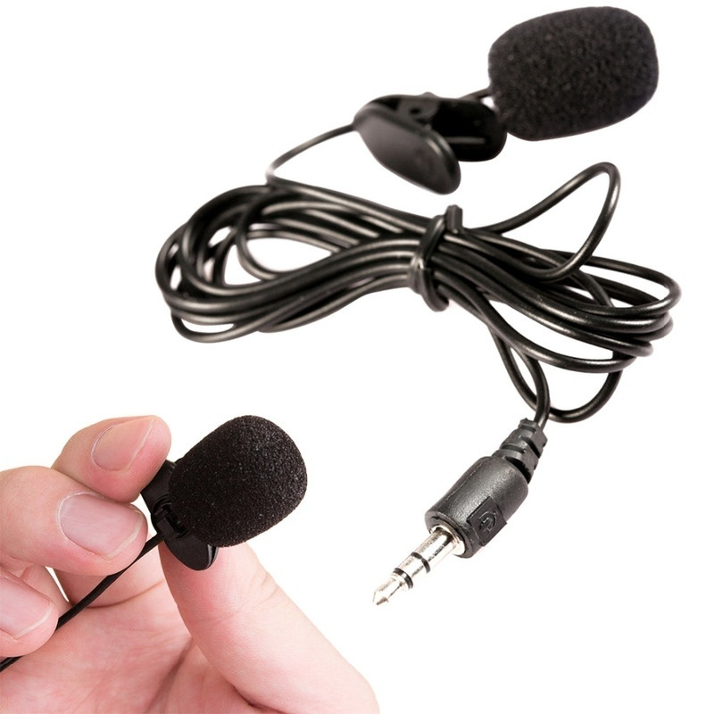 1PC 3.5mm Hands Free Clip On Mini Lapel Mic Microphone For PC Notebook Laptop