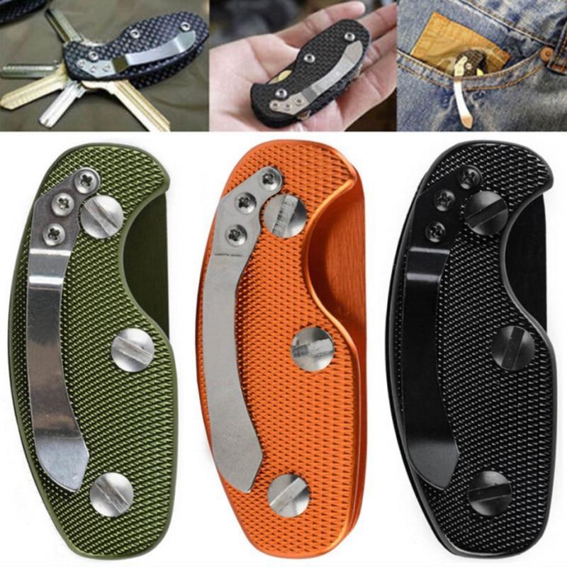 Gear Key Keychain Holder Folder Clamp Pocket Multi Tool Organizer Collector Smart Clip Kit Bar Gadget Outdoor Camp