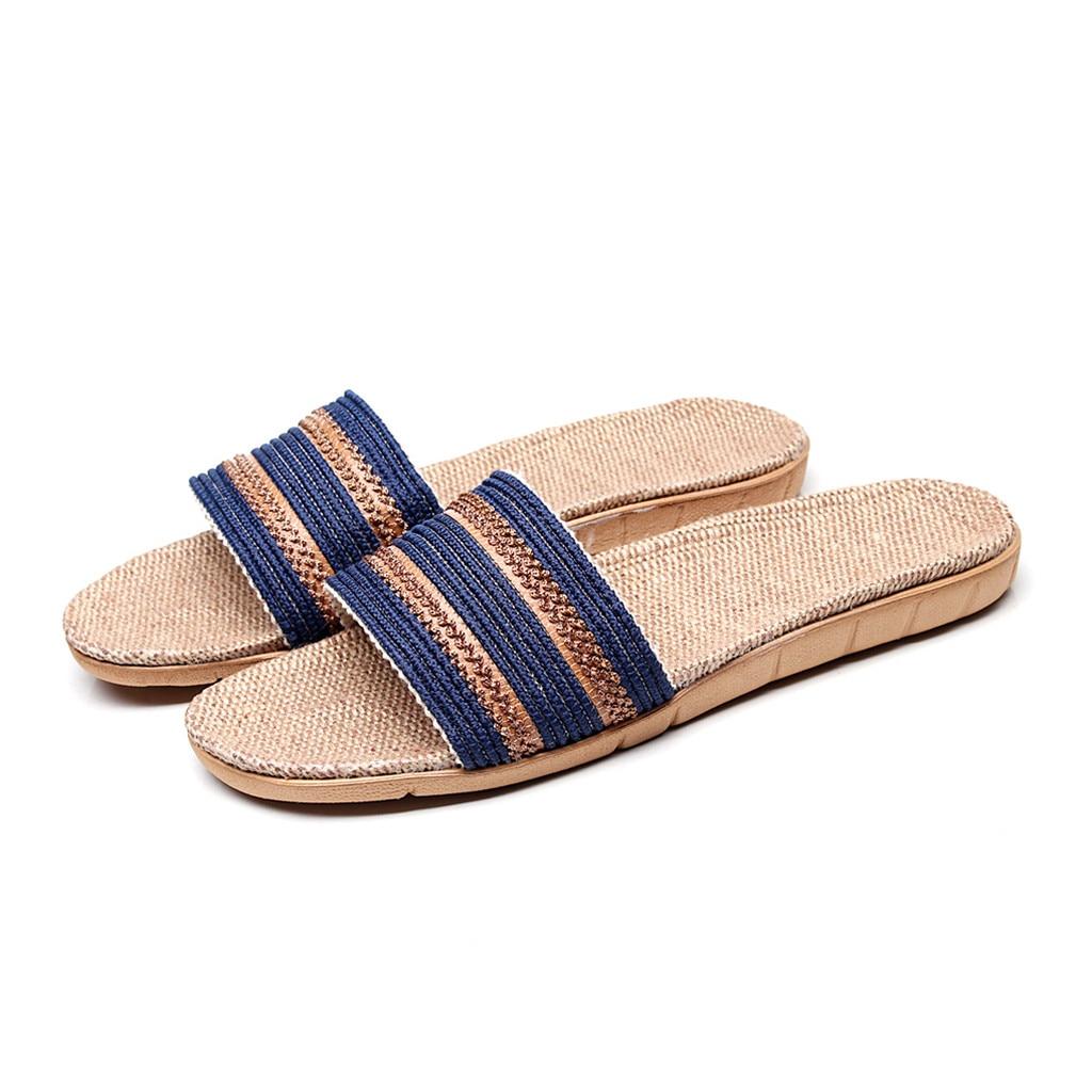 Unisex Summer Beach Slippers Graffiti Lines Flip-Flop Flat Home Thong Sandal Shoes